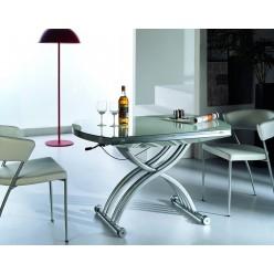 B2252 Стол с мдф столешницей+стекло белый раскладной в стиле модерн, Китай