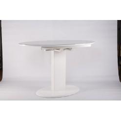 B2396 Стол белый обеденный в стиле модерн.