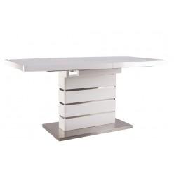 B2406-1 белый прямоугольный обеденный стол из МДФ и металла в стиле модерн, Китай
