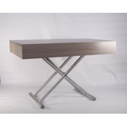 B2391-1 Прямой серебряный стол в стиле модерн