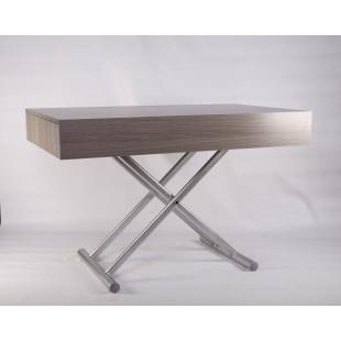 B2391-1 Прямой серебрянйый стол в стиле модерн