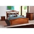 """Двуспальная кровать из массива дуба """"Маргарита""""."""