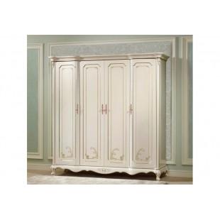 Купить белый большой классический шкаф на 4 двери в спальню Бланш со склада