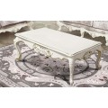Столик кофейный Версаль светлый с золотой патиной в классическом стиле