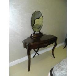 Королевский туалетный столик с зеркалом в спальню Грация в итальянском стиле