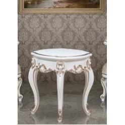 Белый приставной столик в гарнитур Людовик в классическом стиле