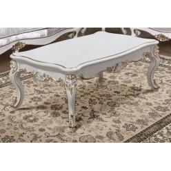 Белый журнальный стол с золотом Людовик, Энигма