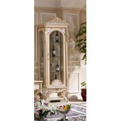 Классическая витрина однодверная в гостиную Ренессанс в стиле барокко
