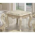 Квадратный приставной столик Ренессанс из массива гевеи в гостиный гарнитур