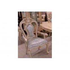 Классический деревянный стул с обивкой из ткани в столовую Ренессанс