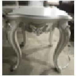 Белый приставной столик в гарнитур Романтика в классическом стиле
