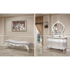 Классическая банкетка в стиле барокко в спальню Версаль