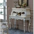 Белый классический секретер с патиной в стиле классицизма в гостиную Макао 002