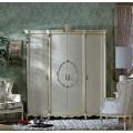 Большой классический шкаф 4 двери в спальный гарнитур в старинном стиле Макао 006