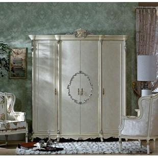 Большой классический шкаф 4 двери в спальный гарнитур в старинном стиле Макао 006 со склада
