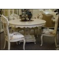 Красивый классический круглый столик в стиле барокко в гостиную Макао 002