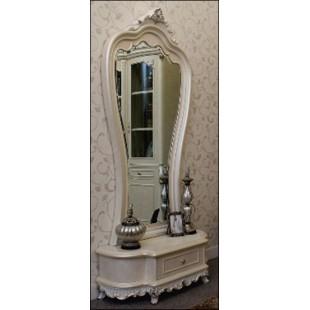 Большое красивое напольное зеркало в гостиную Макао 002 в викторианском стиле