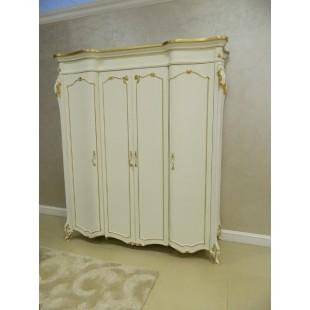 Белый шкаф с золотой патиной Людовик, Энигма