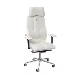 Офисное кресло Business с перфорированной экокожей(Белое).