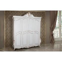 Белый шкаф с золотой патиной Шампань, Энигма