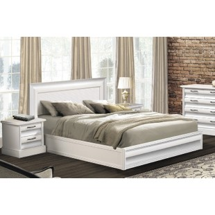 Белая классическая кровать с прямым изголовьем в спальню С -2, Украина