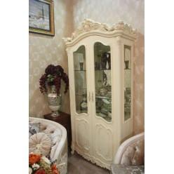 Белая двухдверная витрина Элиза ( Верона) 8833, Китай