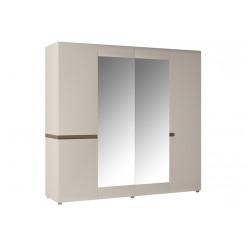 Одежный белый шкаф Линате, AGATA