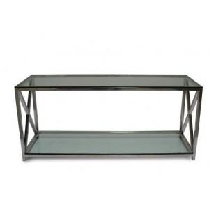 DT-1094Hw столик приставной из метала и стекла