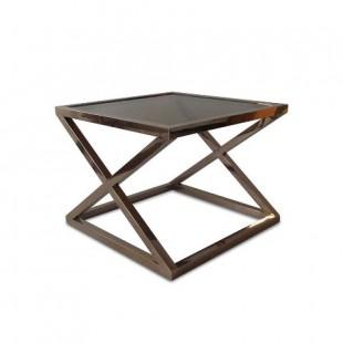 DT-2306HW квадратный столик из метала и стекла в стиле модерн
