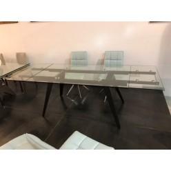 D2050AB Стеклянный стол в стиле лофт с ногами из метала