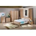 Светлая ламинированная мебель для спального гарнитура Praga