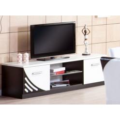 Стильная бело-черная тумба для телевизора в гостиную Мирина