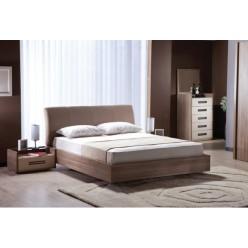 Светлая двухспальная кровать 1600 в спальню Петербург