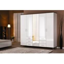 Шкаф пятистворочный белый в мебельный гарнитур Мода