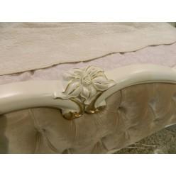 Белая кровать с золотом 1800 Пале Рояль,Энигма