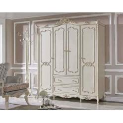 Белый четырехдверный шкаф в мебельный гарнитур Прованс, Энигма