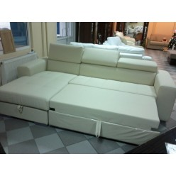 Кожаный угловой диван в холл Самуэль (SAMUEL)