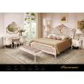Кровать 1800 ( барокко) в белом цвете Прованс, Америка