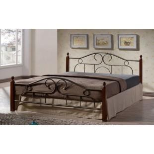 Двухспальная кровать 1800 ВМ - 001-180 с кованым изголовьем, Украина