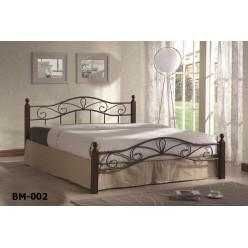 Большая кованая кровать ВМ 002-160 для спальни
