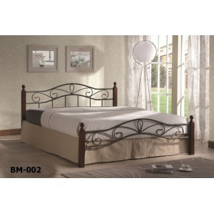 Большая кованая кровать ВМ 002-160 для спальни, Украина