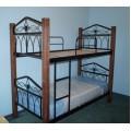 Двухъярусная кованая кровать в детскую комнату KDD-001