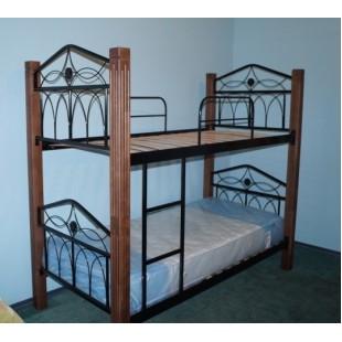 Двухъярусная кованая кровать в детскую комнату KDD-001, Украина