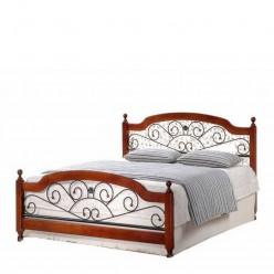 1,6 AT-9156 QB кровать деревянная с элементами ковки