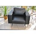 Мягкое кожаное кресло 128-3 (черный) в кабинет