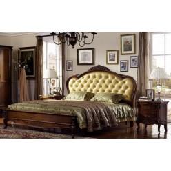 Классическая кровать с резным изголовьем 1800 Каталина