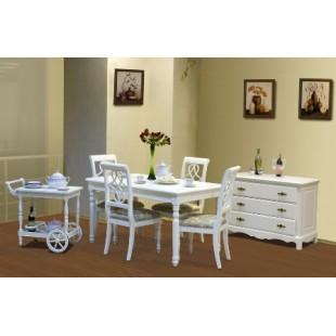 Белая мебель в гостиную Анабель