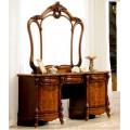 Классический туалетный стол с зеркалом в мебельный гарнитур Маркиза