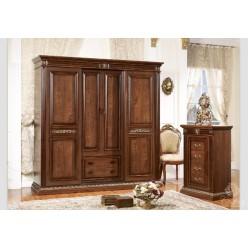 Шкаф четырехдверный без зеркал в Мебельный гарнитур Марсель