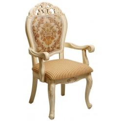 Белый классический стул с подлокотником Classic 119 DP, Китай обивка I